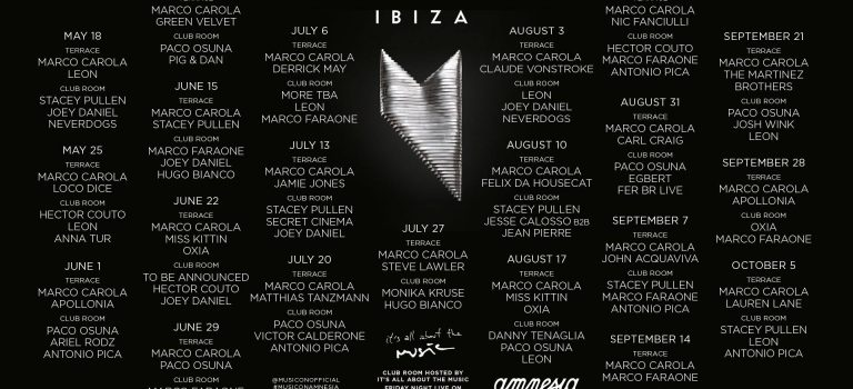 MUSIC ON AMNESIA (IBIZA) – 7th SEASON