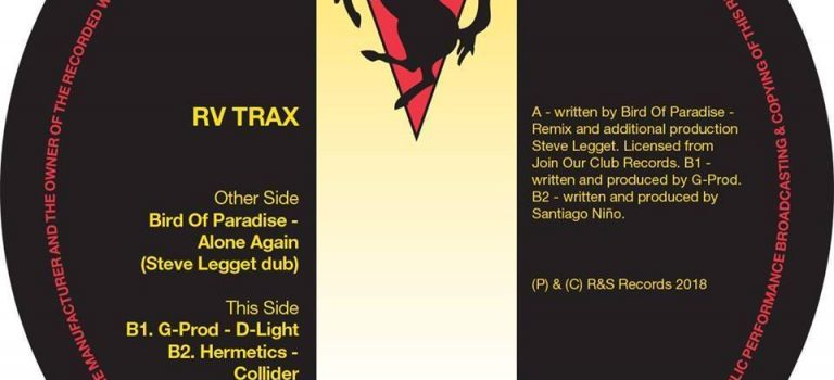 RV Trax EP with g-prod – Bird of Paradise – R&S Records – Recommended