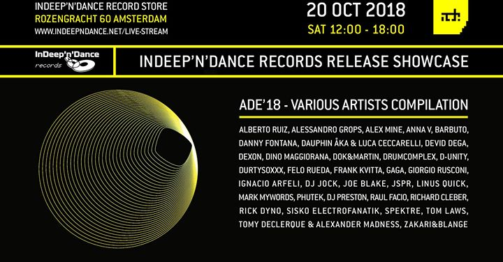 ADE 2018 InDeep'n'Dance Records Release Showcase