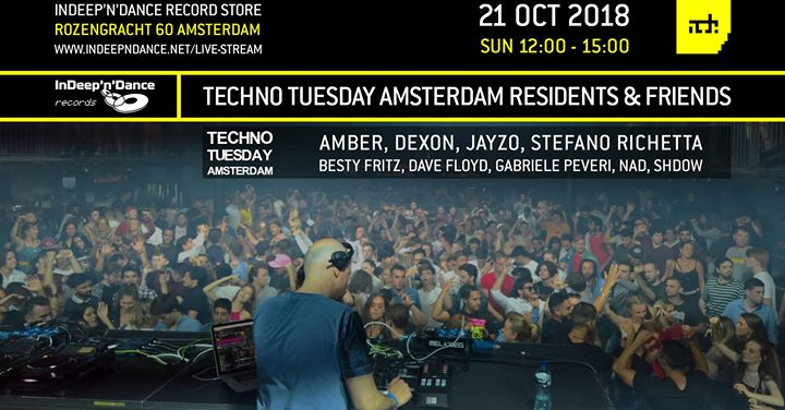 ADE 2018 InDeep'n'Dance: Techno Tuesday Residents & Friends