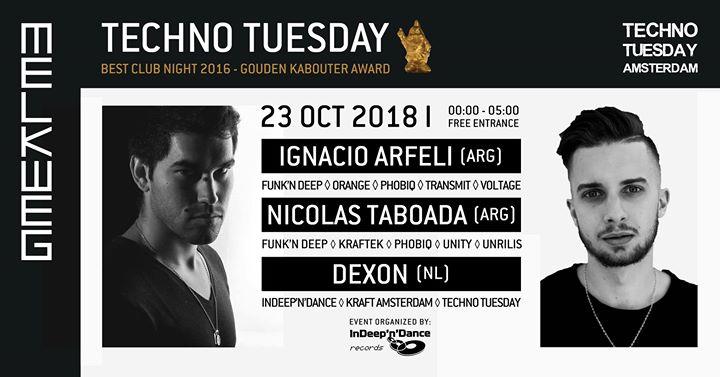 Techno Tuesday Amsterdam I Ignacio Arfeli, Nicolas Taboada 23-10