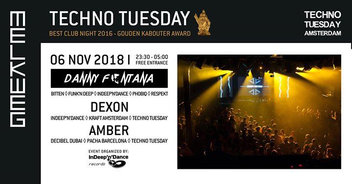 Techno Tuesday Amsterdam I Danny Fontana (IT), 06 Nov, Melkweg