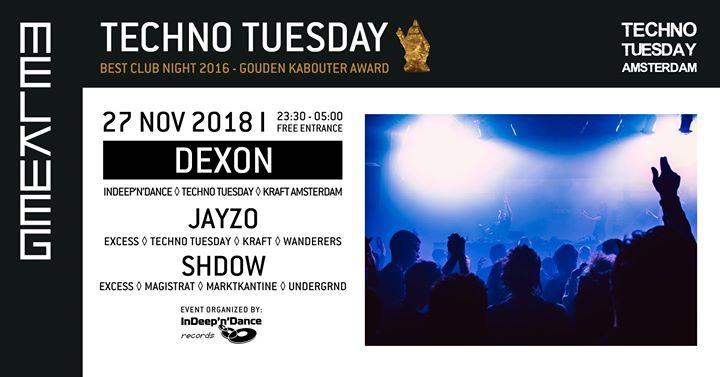 Techno Tuesday Amsterdam I Dexon (NL), 27 Nov, Melkweg