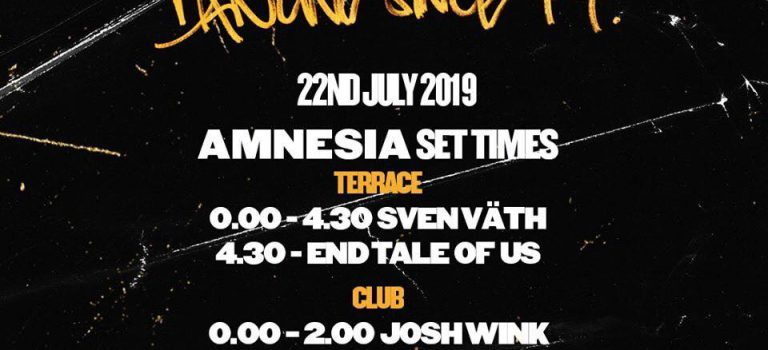 Sven Vath Presents Cocoon 20 years in Ibiza @ Amnesia